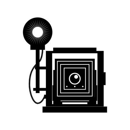 Photographic camera professional icon vector illustration graphic design Banco de Imagens - 80909042