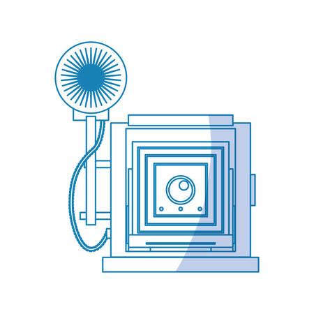 Photographic camera professional icon vector illustration graphic design