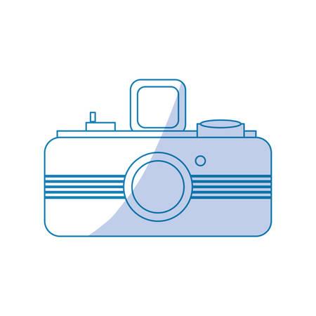 A Photographic camera professional icon vector illustration graphic design.