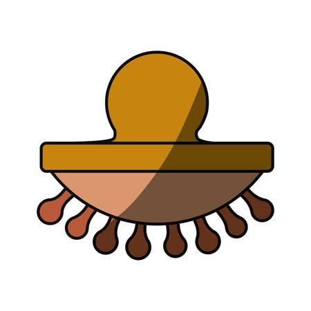 masseur: Body massager cartoon icon vector illustration graphic design.