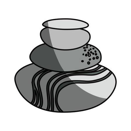 Spa stones cartoon icon vector illustration graphic design. Illustration