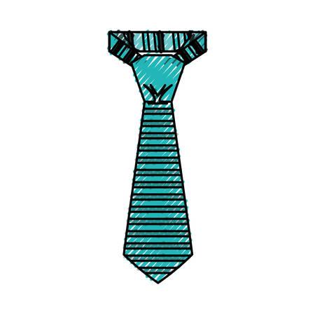 Male executive tie icon vector illustration graphic design