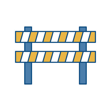 the roadside: safety barrier icon over white background vector illustration Illustration