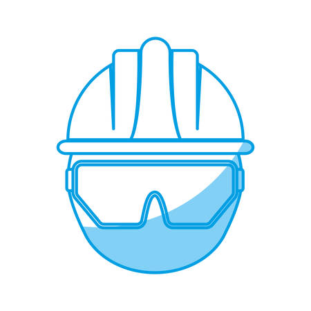 detection: Man with safety goggles and helmet icon