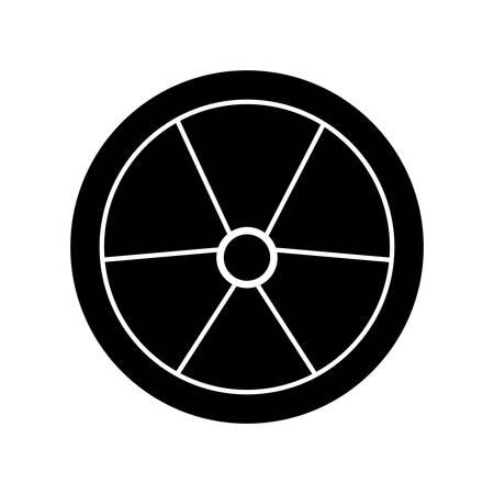 nucleaire teken pictogram over witte achtergrond vectorillustratie Stock Illustratie