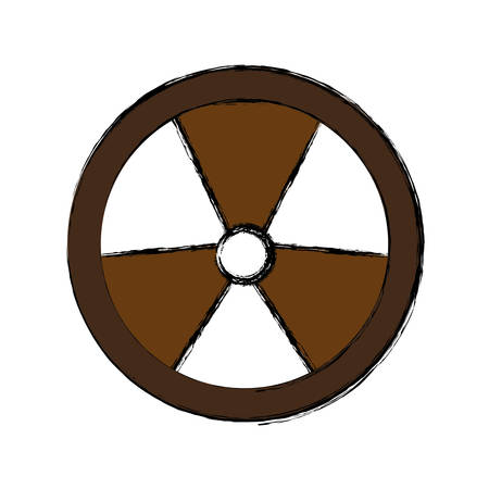 nuclear sign icon over white background vector illustration
