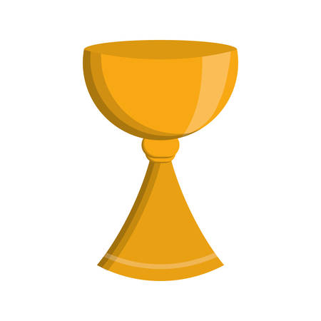 Holy Grail icon over white background colorful design vector illustration