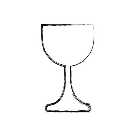 holy grail cup icon over white background vector illustration Çizim