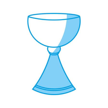 holy grail cup icon over white background vector illustration Ilustracja