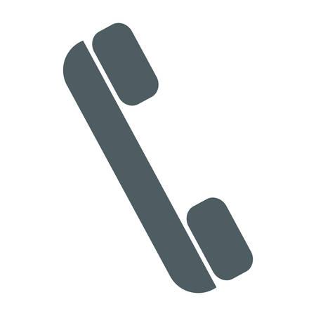 Phone handset icon over white background vector illustration Illustration