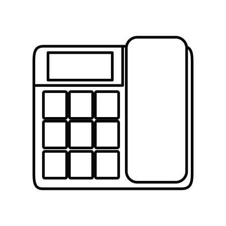 old cell phone: Phone icon over white background vector illustration