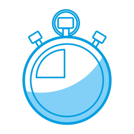 Chronometer icon over white background vector illustration