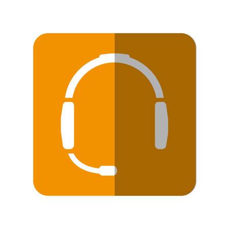 Headset device icon over white background vector illustration Illustration