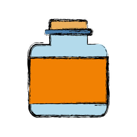 fragrances: Fragance bottle icon over white background vector illustration Illustration