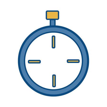 interval: Chronometer icon over white background vector illustration
