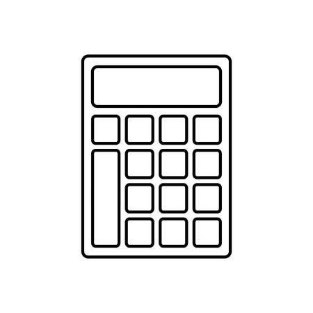 addition: Calculator icon over white background vector illustration Illustration