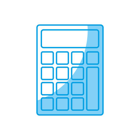 calculate: calculator icon over white background vector illustration