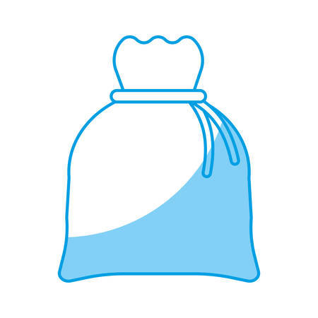 money bag icon over white background vector illustration Illustration