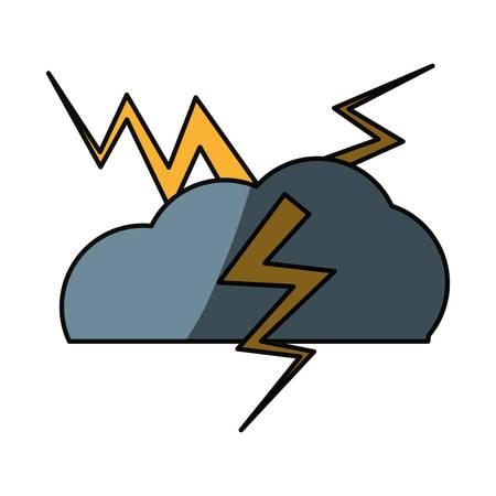 Rainy bad weather icon vector illustration graphic design Illustration
