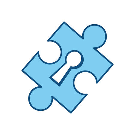 Puzzle piece isolated icon vector illustration graphic design