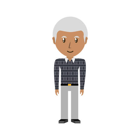 parenthood: Cute grandfather cartoon icon vector illustrationgraphic design Illustration