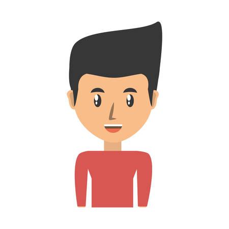 symbolics: Young man cartoon icon vector illustrationgraphic design