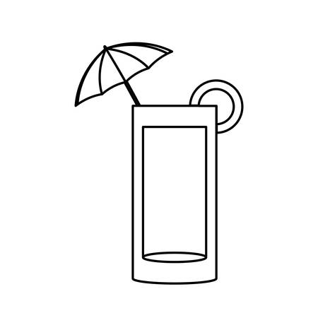 Delicious cocktail isolated icon vector illustration graphic design Illustration