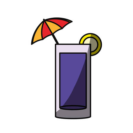 umbrela: Delicious cocktail isolated icon vector illustration graphic design Illustration