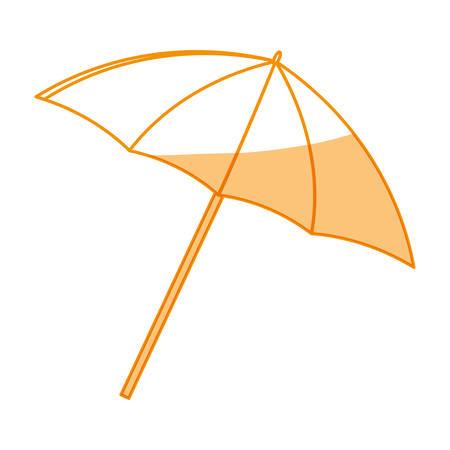 Umbrella beach accesory icon vector illustration graphic design