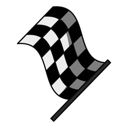 Racing flas isolated icon vector illustration graphic design