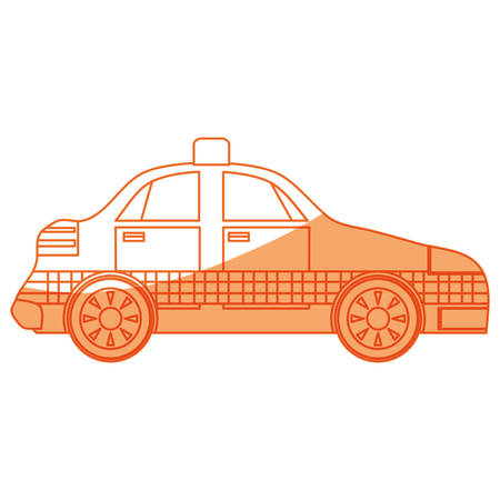 isolated taxi car icon vector illustration graphic design
