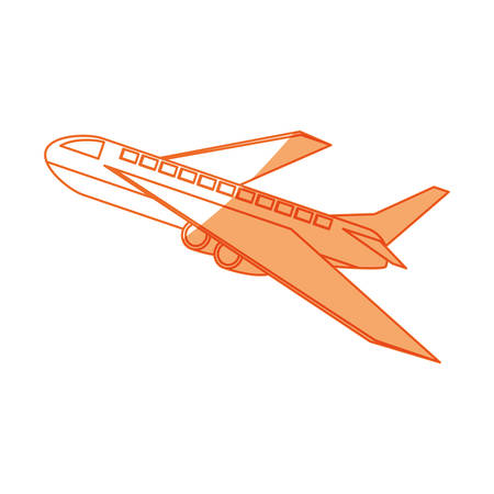 jetliner: isolated airplane taking off icon vector illustration graphic design