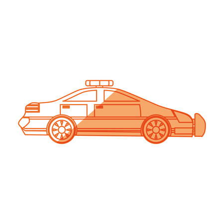isolated police car icon vector illustration graphic design