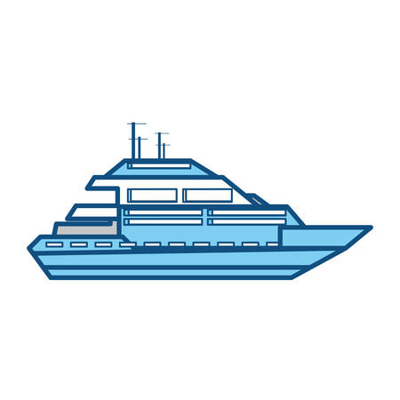 isolated cute yacht icon vector illustration graphic design