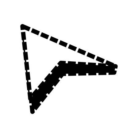 redo: isolated web arrow icon vector illustration graphic design