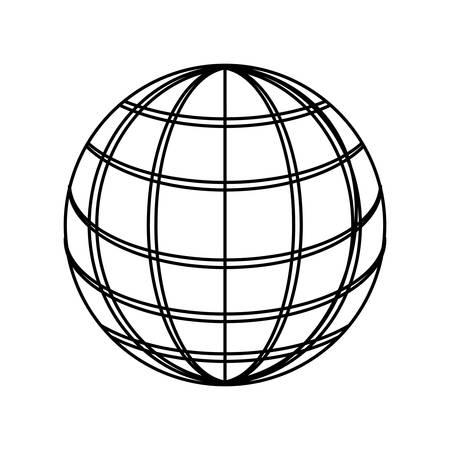 Sphere web networkingicon vector illustration graphic design