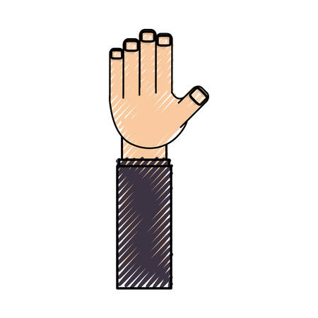 isolated cute hand icon vector illustration graphic design