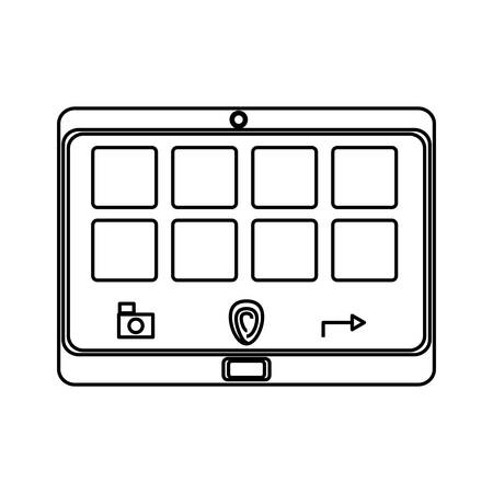 using smart phone: isolated smart tablet icon vector illustration graphic design