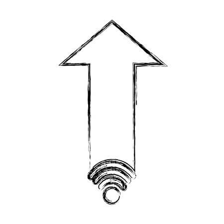分離された web 矢印アイコン ベクトル イラスト グラフィック デザイン