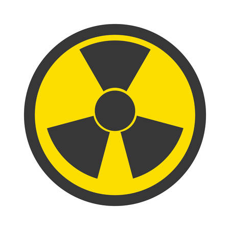 nuke plant: isolated nuclear symbol icon vector illustration graphic design
