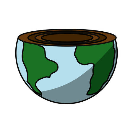 isolated care of the planet icon vector illustration graphic design Illustration