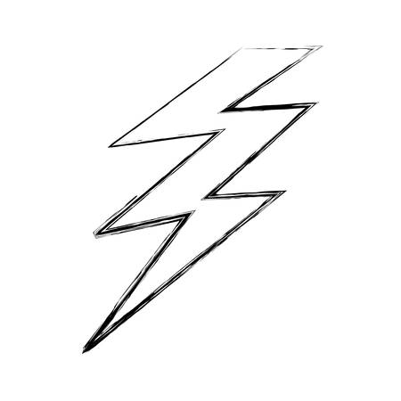 Isolated electric thunder icon vector illustration graphic design