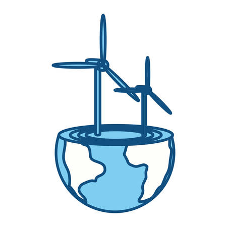 water turbine: isolated care of the planet icon vector illustration graphic design Illustration