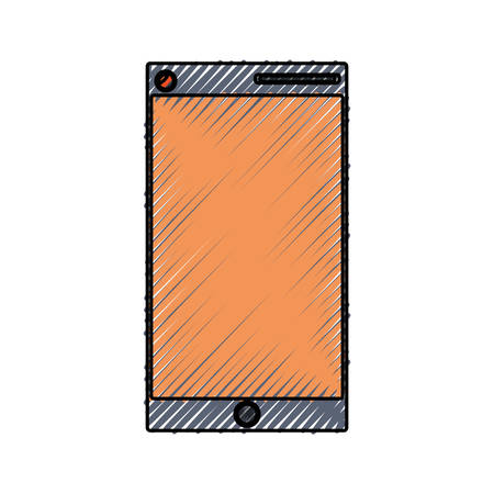 using smartphone: isolated smartphone cellphone icon vector illustration graphic design
