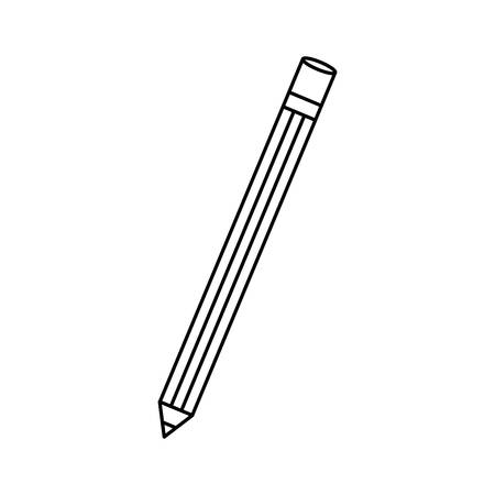 ballpoint: isoated study pencil icon vector illustration graphic design