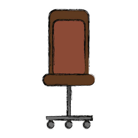 working place: isolated desk chair icon vector illustration graphic design