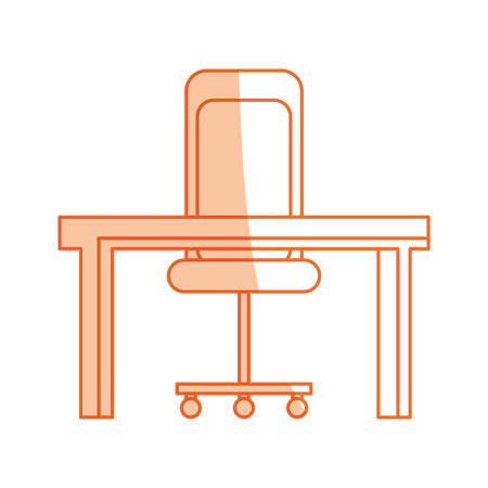 working place: isolated desk and chair icon vector illustration graphic design Illustration