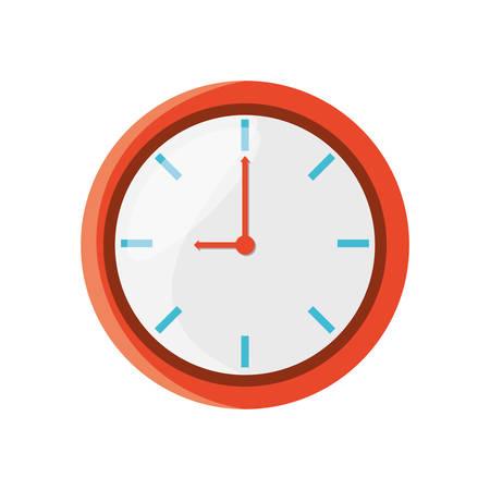 isolated round clock icon vector illustration graphic design