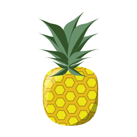 ripe: isolated pineapple fruit icon vector illustration graphic design