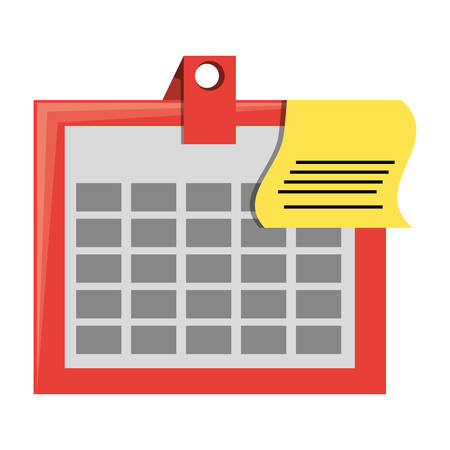 isolated office calendar icon vector illustration graphic design